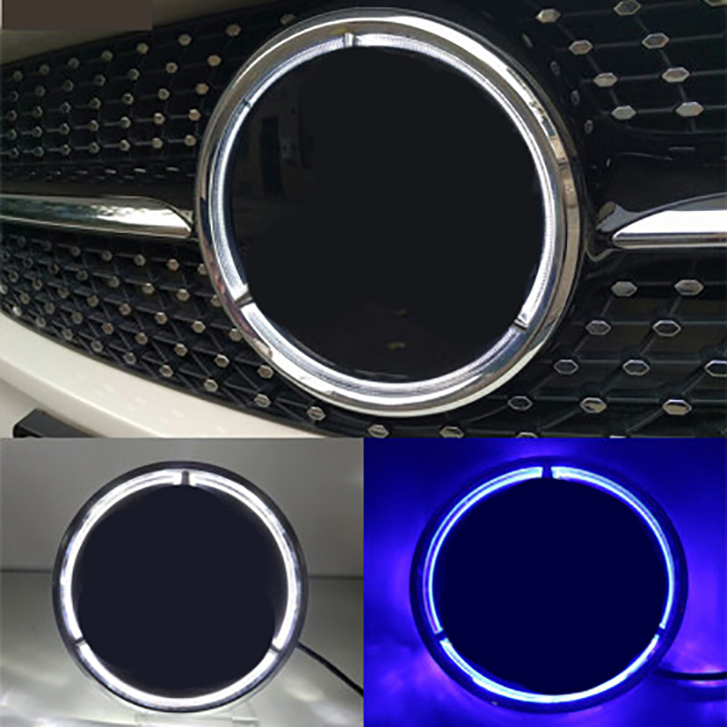 for <font><b>Mercedes</b></font> Benz Front Logo <font><b>Emblem</b></font> Grille Badge W156 W204 W205 W210 <font><b>W211</b></font> W212 W213 C E Class GLA GLK ML GL GLC GLE Accessories image