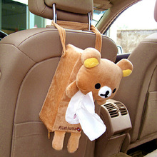 Chair Tissue-Box Hanging Auto-Accessories Cartoon-Car Bear with Back-Bag Car-Pumping-Box