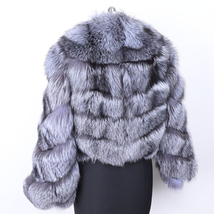Image 3 - MAO MAO KONG winter real fox fur jacket women  parka natural real fox fur coat  Womens coat Womens fur coat