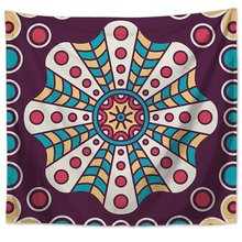 Geometric Pattern Tapestry Wall Hanging Indian Wall Decor Hippie Tapestries Throw Sheet Beach Yoga Mat Coverlet cityscape printed mandala tapestry wall hanging home bed decor hippie polyester letter motto tapestry beach throw towel yoga mat