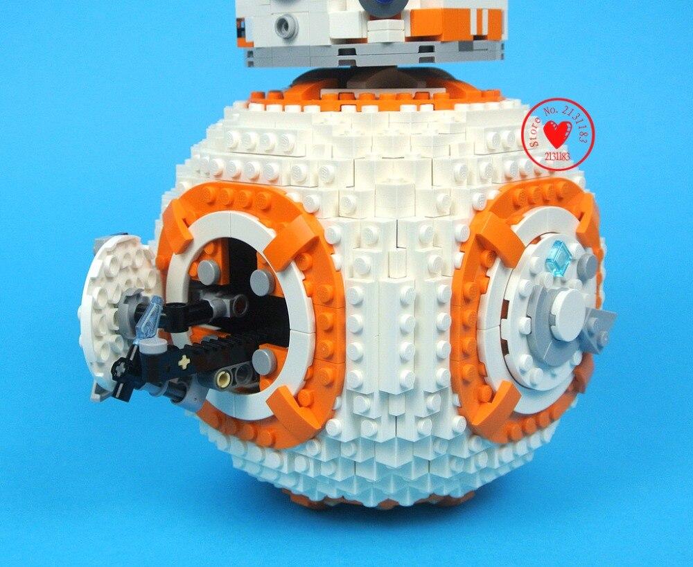 Oyuncaklar ve Hobi Ürünleri'ten Bloklar'de Yeni 1238 adet Starwars Bb8 Teknik Robot Fit Star Wars Rakamlar Şehir Modeli Yapı Taşı Tuğla Erkek Hediye Seti Oyuncak çocuk çocuk Doğum Günü'da  Grup 2