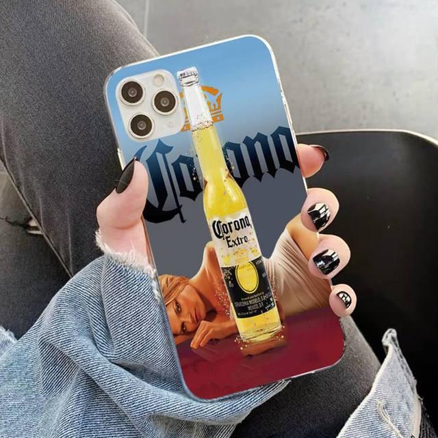 YNDFCNB Corona Extra bière étui de téléphone pour iPhone 11 12 pro XS MAX 8 7 6 6S Plus X 5S SE 2020 XR étui
