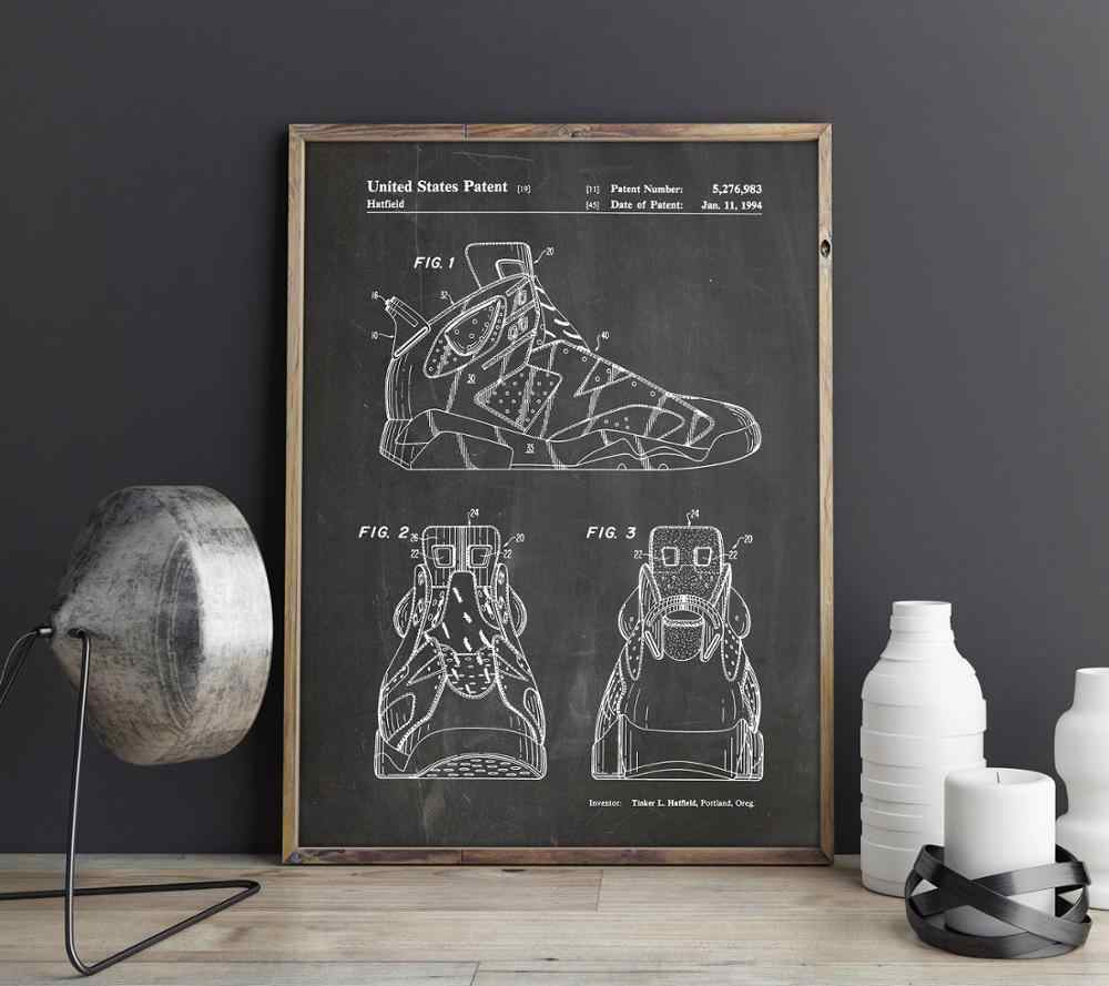 Sneakers patent for Nike Air Jordan lover,Shoes wall art , posters ...