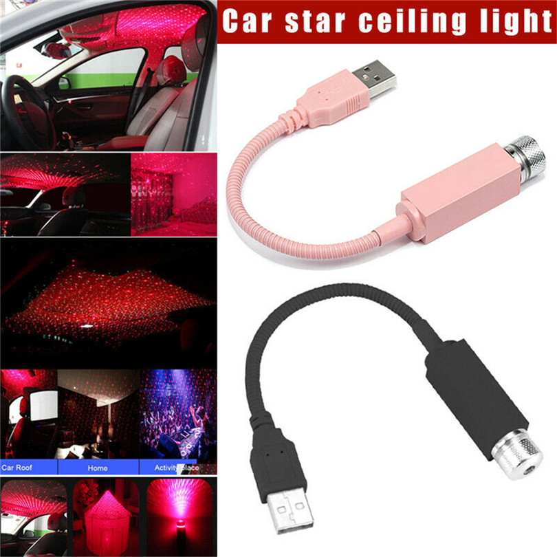 Car Ceiling Romantic USB Night Light Star Ceiling Light Car Roof Lights USB Night Light Romantic Atmosphere Starry Sky #3D16
