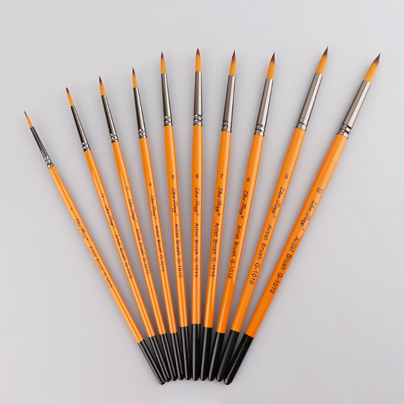 Fine Hand Painted Thin Pen Art Supplies Drawing Point Tip Watercolor Nylon Brush Acrylic Oil Painting Craft QX2B