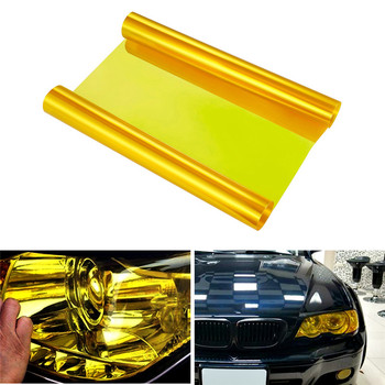 Yellow Car Headlight Taillight Fog Light Tint Vinyl Film Sheet Sticker Auto Car Light Decoration Color-Changing Film Sticker black car headlight light vinyl film sticker taillight fog lamp tint vinyl wrap smoke film sheet sticker hot sale australia etc