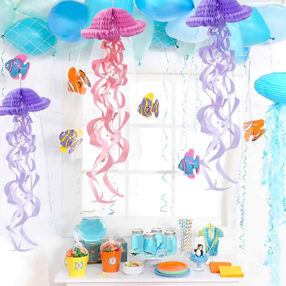 FENGRISE Little Mermaid Party Supplies Theme Mermaid Decor Mermaid Decor วันเกิดสำหรับเด็ก Favor วันเกิด Happy birthday Party