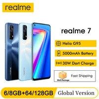 realme 7 NFC 6.5''FHD+ Global 6/8GB 64/128GB Smartphone 30W Dart Charge 5V/6A Helio G95 48MP 5000mAh Mobile Phone 1