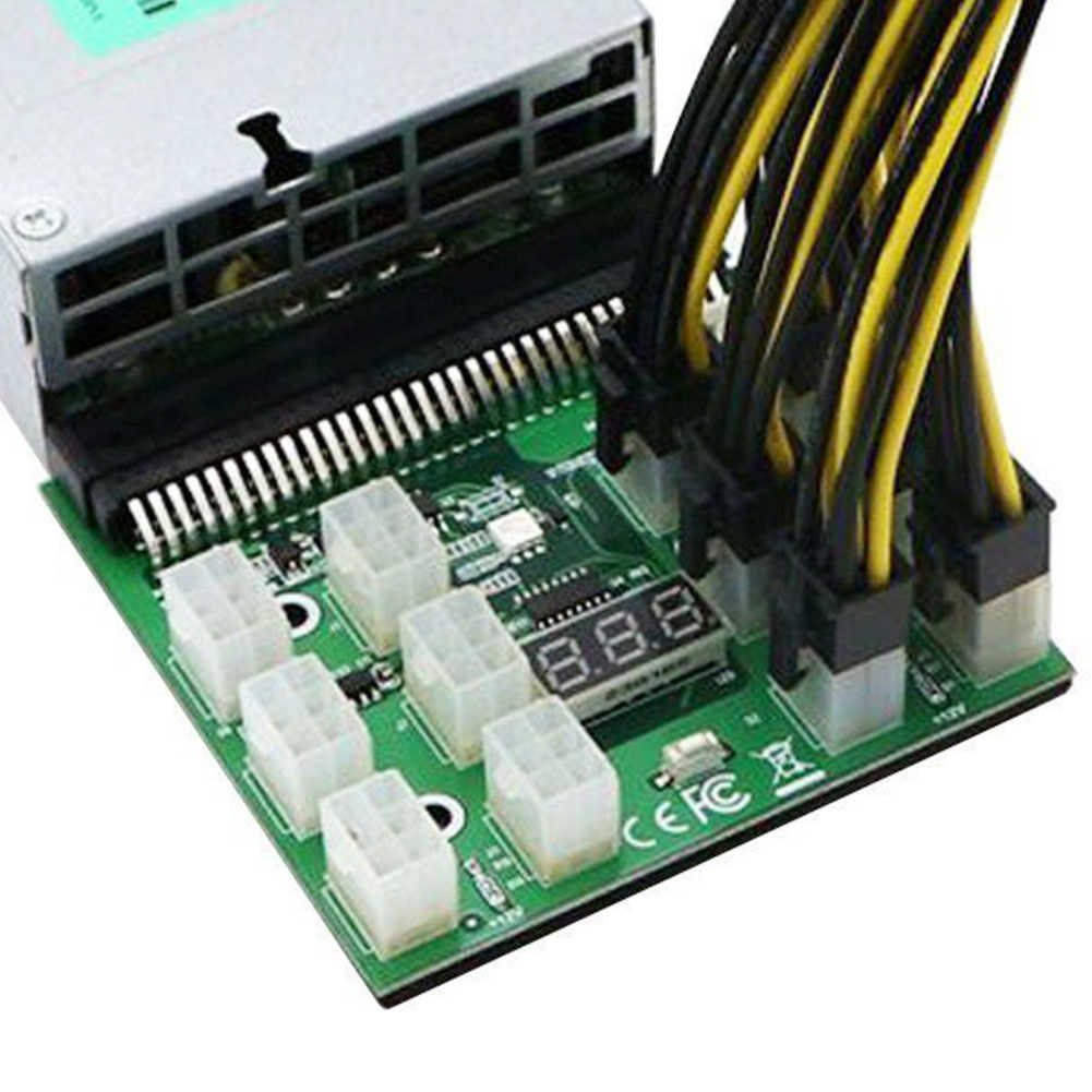 6pin Replacement For HP PSU GPU Ethereum Parts Server ZEC ZCASH ETH LED Display Mining Power Supply