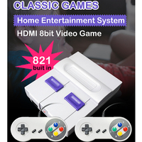 HDMI 821 Retro Game Mini Classic HDMI/AV TV 8 Bit Video Game Console With 821 Games for Handheld Game Players Best Toys Gift