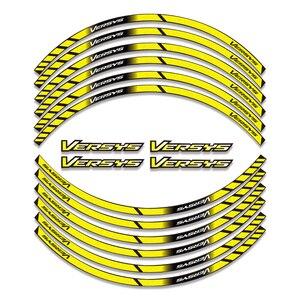 Image 3 - Película de diamante para KAWASAKI Versys 650/1000 VERSYS650 Versys1000, pegatinas de rueda de colores, reflectantes, impermeables, calcomanías de llanta