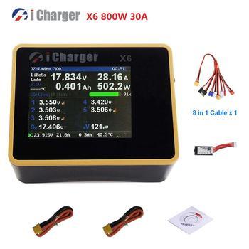 ICharger X6 800W 1s/6S - 30A,  LiFePO4, Li-ion, Cargador de alta potencia, pantalla LCD, balanceador. 1