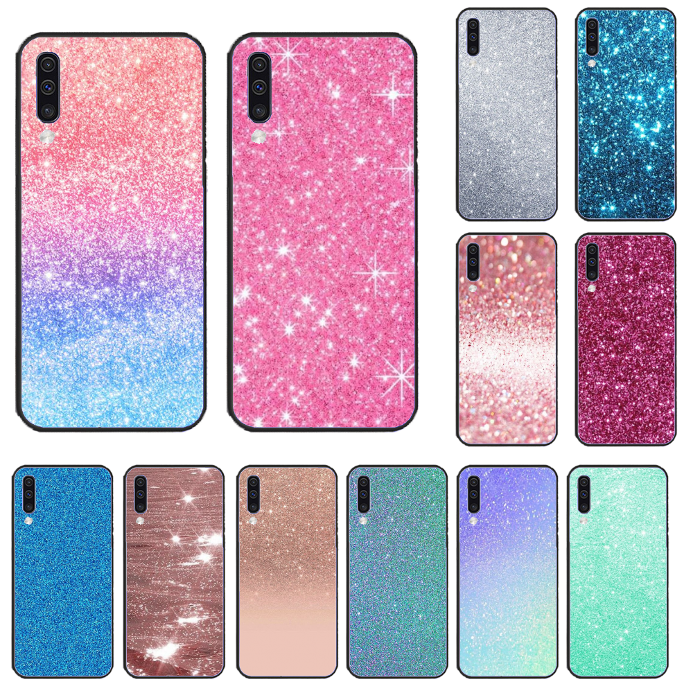 For Samsung A50 Pink Diamond Art Newly Arrived Black Cell Phone Case For Samsung A50 60 <font><b>70</b></font> A6 <font><b>2018</b></font> plus A8 <font><b>2018</b></font> A7 A9 750 920 image