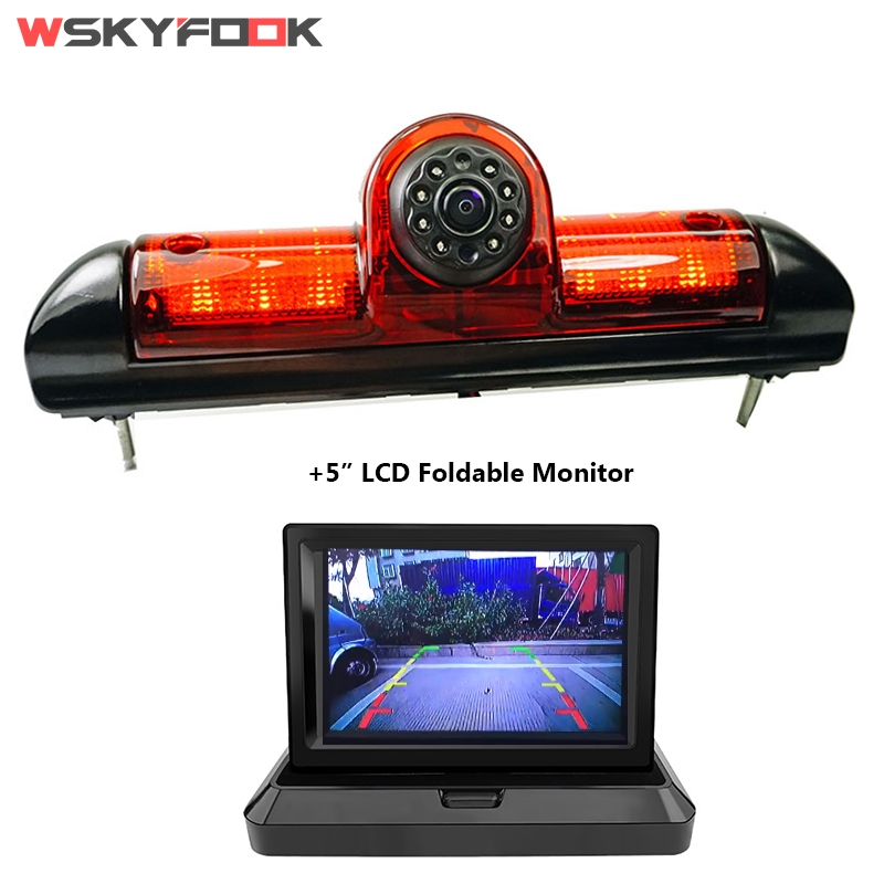 Night Vision Car Brake Light Rear View Camera For Citroen JUMPER III/ Fiat DUCATO X250/ Peugeot BOXER III With 5inch Monitor Kit