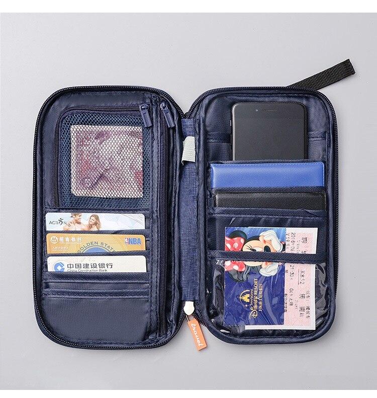 carteira de viagem grande cartão de crédito