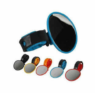 Bicycle Cycling Handlebar Rubber Rearview Mirror 360 degree Rotate Accessories