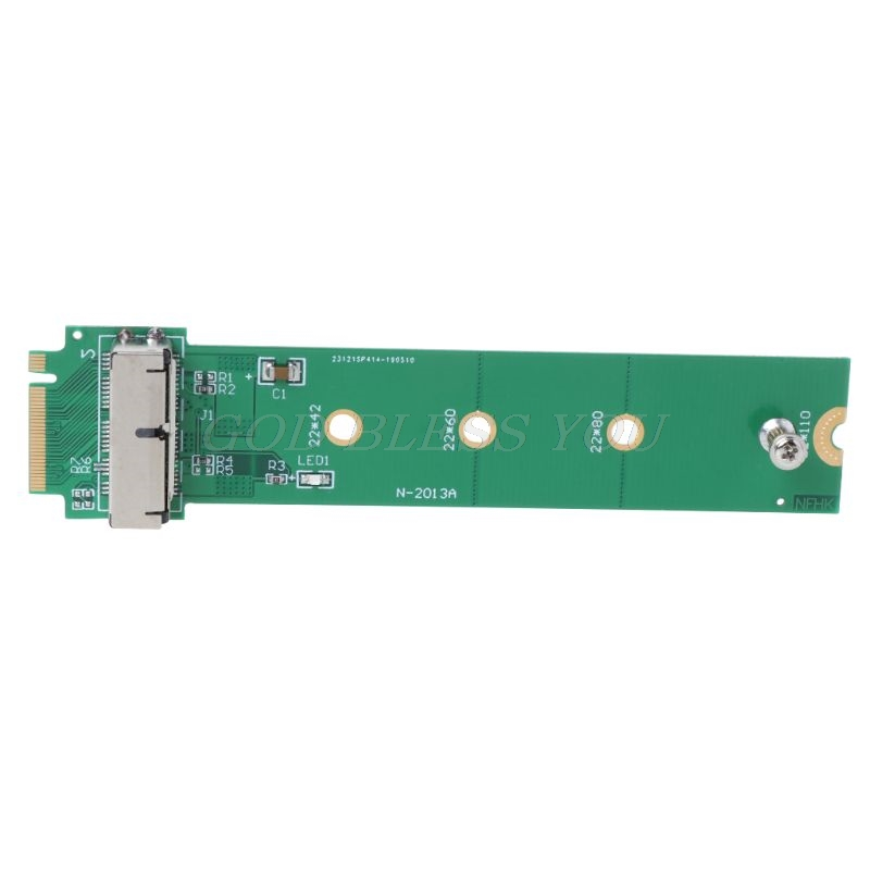 For MacBook Air Pro <font><b>12</b></font>+<font><b>16</b></font> <font><b>Pins</b></font> <font><b>SSD</b></font> to M.2 Key M (NGFF) PCI-e Adapter Converter Card for PC Computer Accessories Drop Shipping image