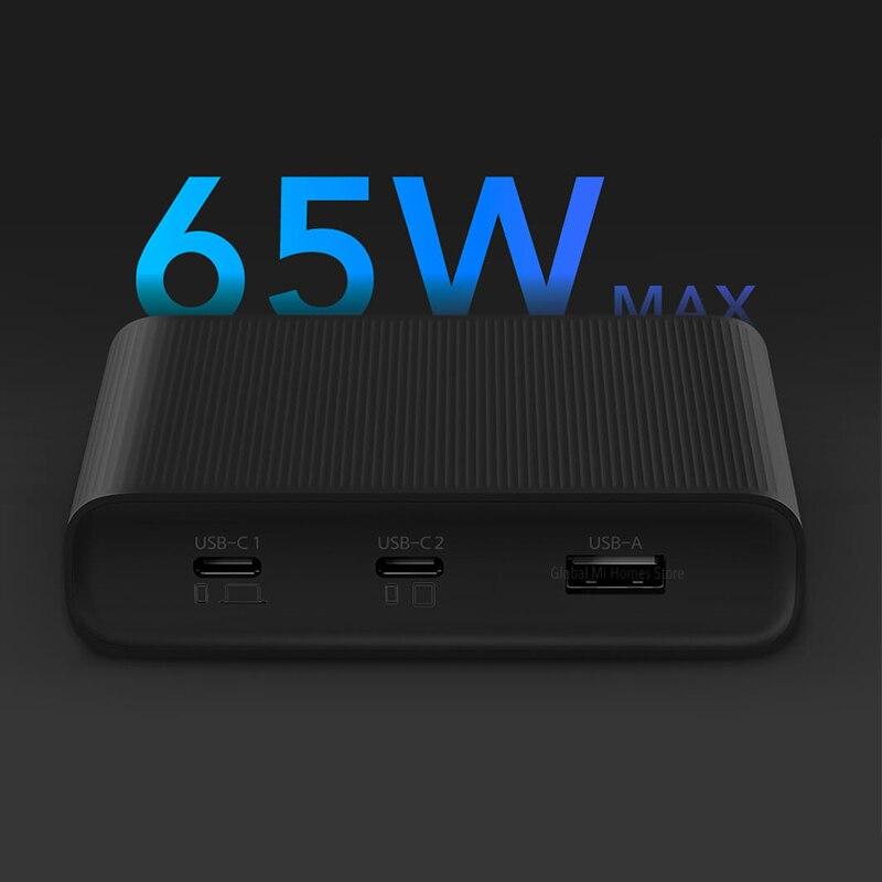 Xiaomi Mijia ZMI USB chargeur 65W haute puissance bureau rapide Charge édition adaptateur d'alimentation rapide étude chambre bureau voyage - 3
