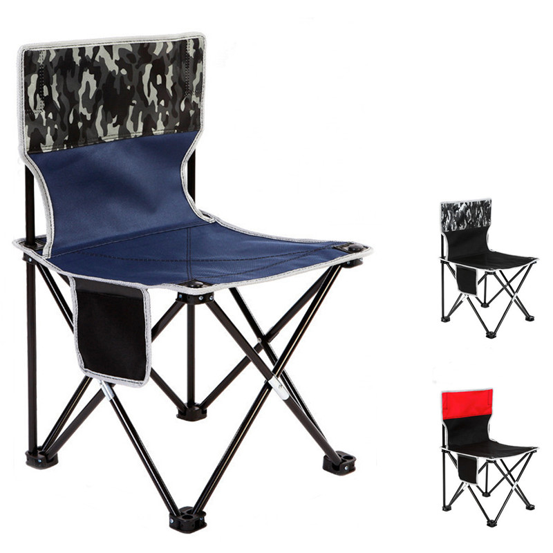 XL Portable Collapsible Chair Fishing Camping BBQ Stool Folding Extended Hiking Seat Garden Ultralight Office Home Furniture