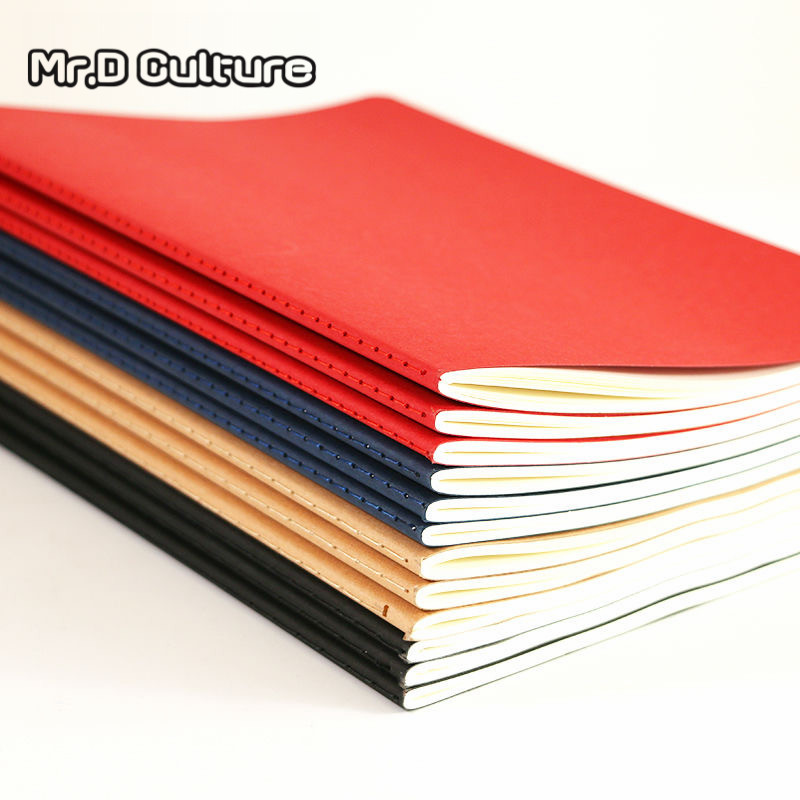 A5 high-end retro kraft paper notebook business office notebook students learn soft copy muji nootbook