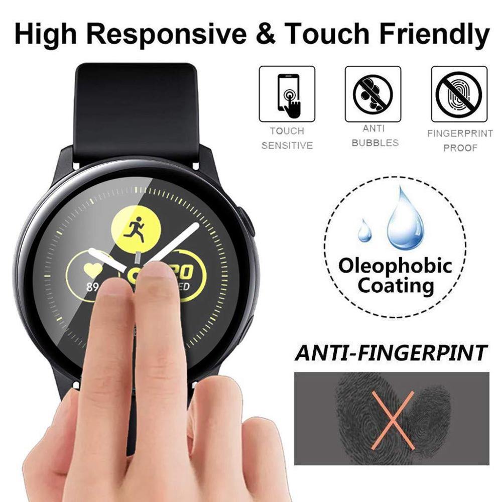 3D Full Cover Tempered Glass for Samsung Watch cases active2 40mm 44mm Glass Screen Protector For active 2 Watch Cover