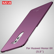 "Honor 6x Case Cover Msvii Slanke Matte Coque Voor Huawei Honor 6x Case Honor6x Hard PC Back Cover Voor Huawei 6X Telefoon Gevallen 5.5""(China)"