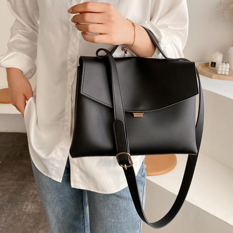 Vintage Fashion Female Tote Bag 2020 New High Quality PU Leather Women's Designer Handbag High Capacity Shoulder Messenger Bag