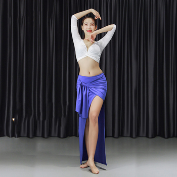 Belly Dance Costume Suit Stage Performance Clothes Women'S Two-Piece Set Oriental Long Sleeves Practice Training Clothes DWY3068