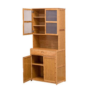 Cabinet Cupboard Solid-Wood Household Modern Locker Tea Bamboo Dining-Room Simple