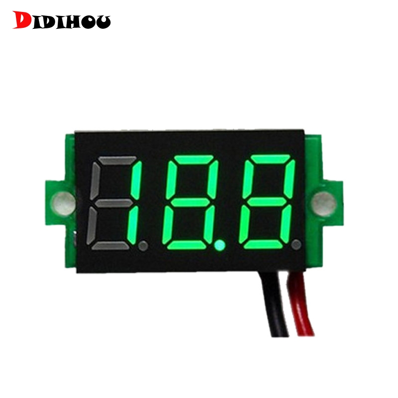 DIDIHOU 1 Pcs Digital Voltmeter LED Display Mini 2/3 Wires Voltage Meter Ammeter High Accuracy Red/Green/Blue DC 0V-30V 0.36