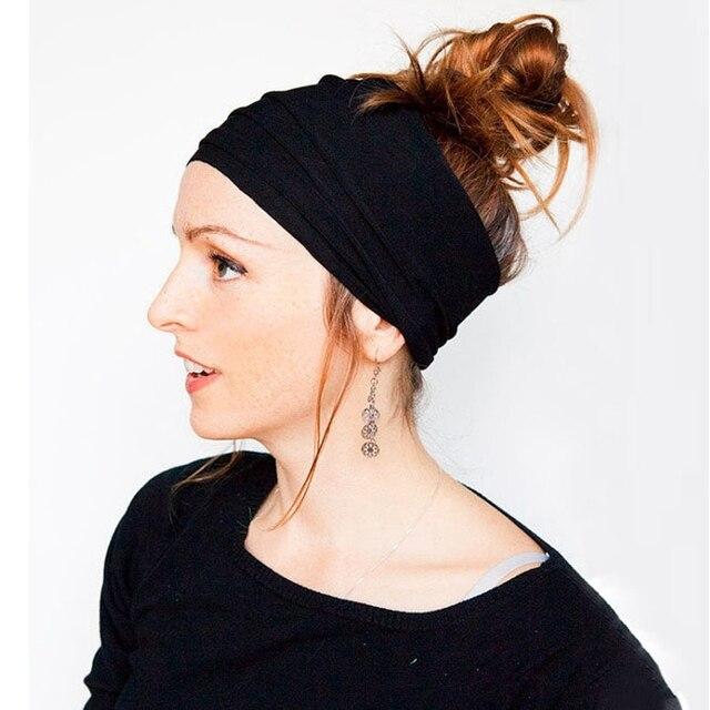 13 Colors Nonslip Elastic Folds Yoga Hairband Fashion Wide Sports Headband Running Accessories Summer Stretch Hair Band 2