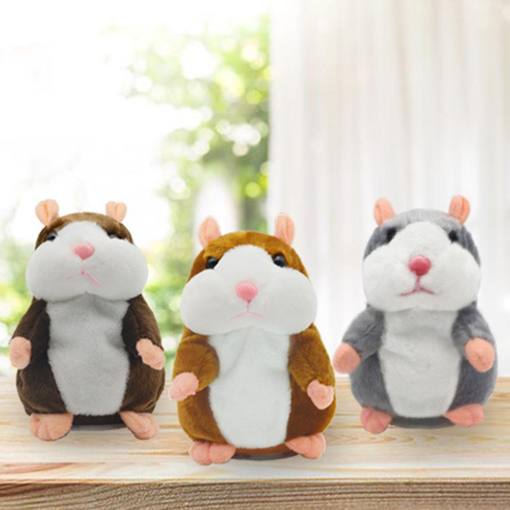 15cm Cute Talking Hamster Mouse Stuffed Plush Animal Doll Sound Record Repeat Educational Toys Children Gifts