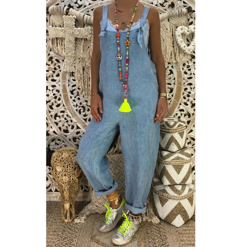 Hot Women Baggy One-Piece Jumpsuits Overalls Denim Jeans Bib Trousers Long Pants Romper 2020