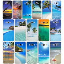 Zomer Strand Scène bij Zonsondergang op zee Soft Silicone Case Cover voor Samsung Galaxy a3 a5 2017 A6 A8 2018 j3 j5 j7 2016 2017(China)