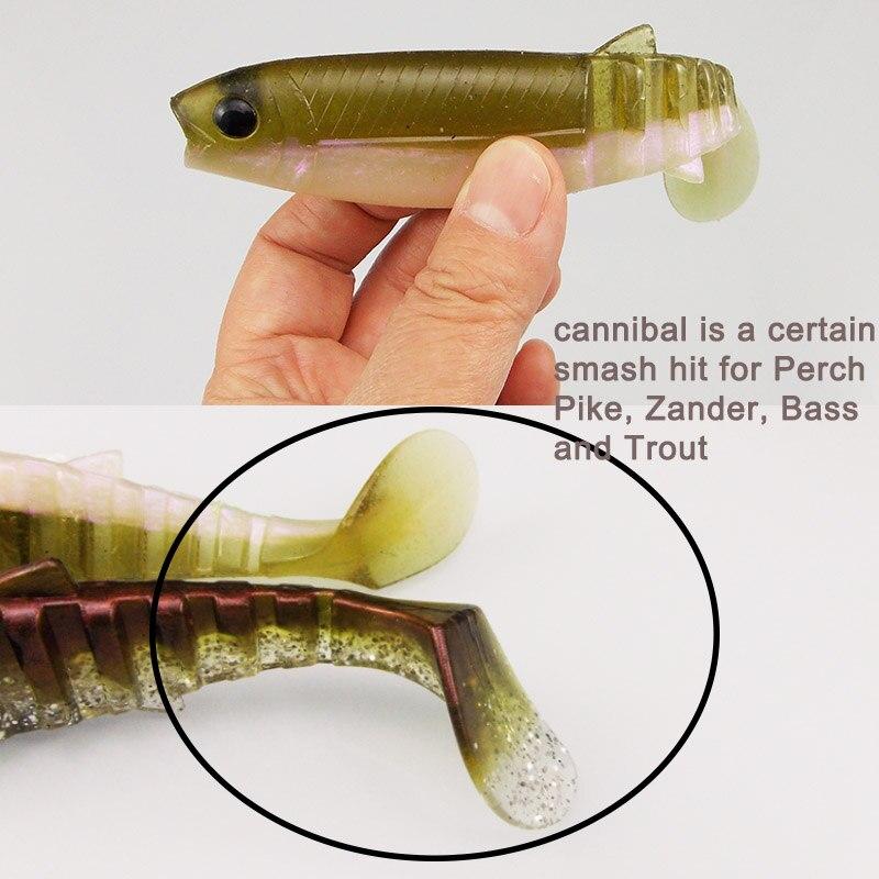 Leurres Souples type Cannibal Shad150mm 32g vendus par 3