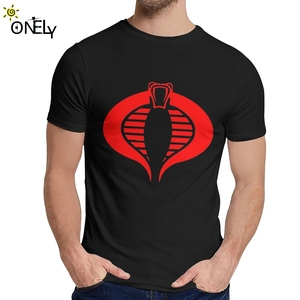 Round Collar Cobra GI JOE Special Forces Short Sleeve Summer For Men 100% Cotton Homme T Shirt Big Size(China)