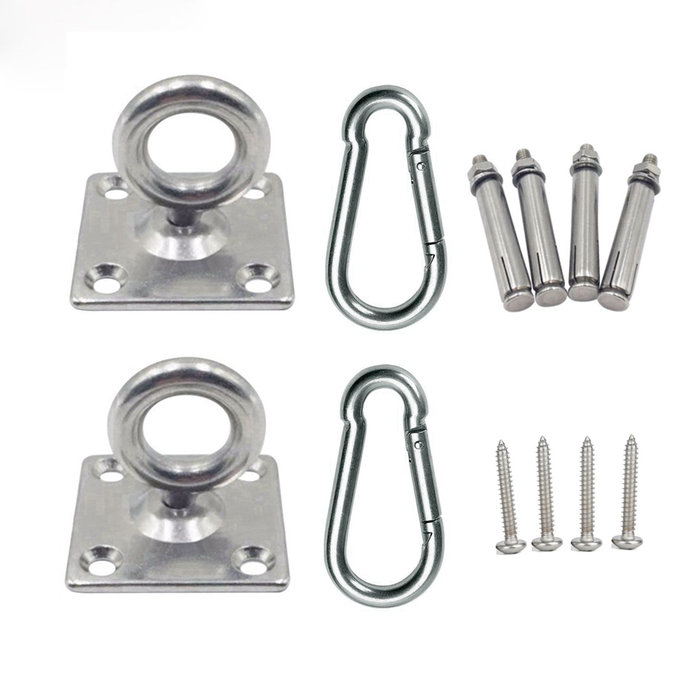 Stainless Steel Ceiling Wall Mount Anchor Suspension Bracket Hook Hanger For Gym Yoga Hammock Swing Hanging Chair Punching Bag