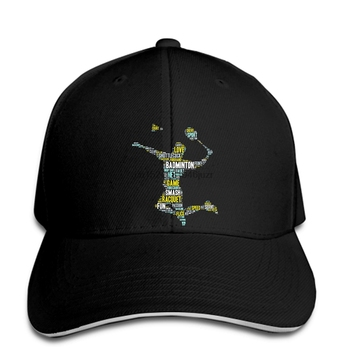 Gorras de béisbol de hip hop, palabras de bádminton estampadas personalizadas para hombres, caben Cotton_Poly hat by Next Level, snapback para mujeres