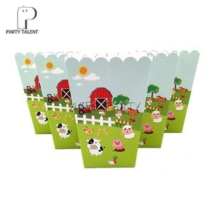 Image 5 - Meninos crianças fazenda tema animal toalha de mesa capa festa de aniversário utensílios de mesa balão caixa de doces placa de bandeira copo fontes de festa