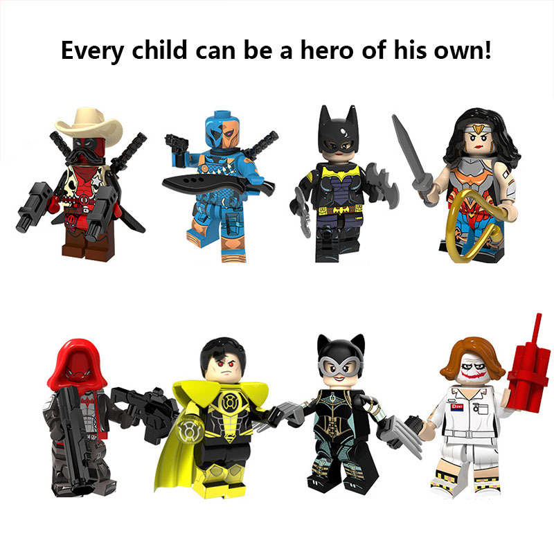 2019 New Legoed Super Heroes Serices Batman Joker Catwoman Superman Arrow Cute Figurines Model Building Kits Toys For Children