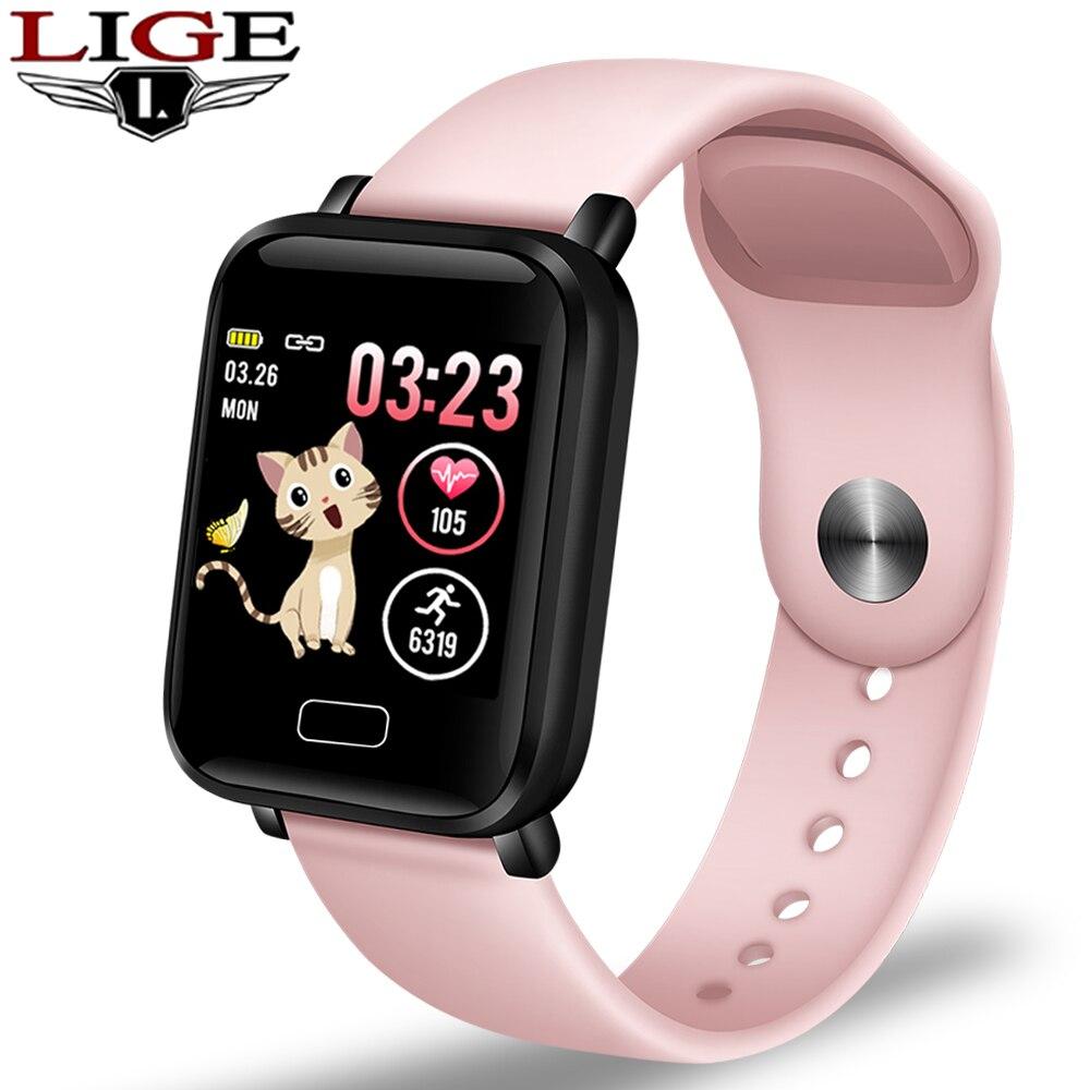 2020 חדש נשים חכם שעונים עמיד למים ספורט עבור Iphone טלפון Smartwatch קצב לב צג לחץ דם פונקציות עבור ילד
