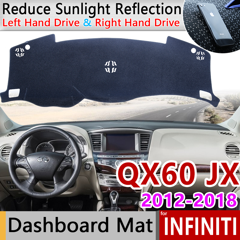 for <font><b>Infiniti</b></font> <font><b>QX60</b></font> <font><b>JX35</b></font> 2012 2013 2014 2015 2016 2017 2018 QX Anti-Slip Mat Dashboard Cover Pad Sunshade Dashmat Accessories Rug image