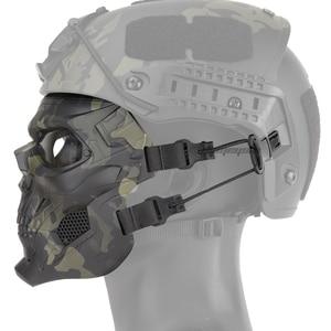 Image 4 - Military Tactical Skull Mask Protective Hunting Shooting Full Face Masks Airsoft Paintball Wargame CS Fast Helmet Skull Mask