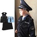Cosplay Kostüme Teenager Kinder Jungen Mädchen Polizei Uniform Verkehrs Polizisten Cop Offizier Anzug Kinder Halloween Weihnachten Geschenk