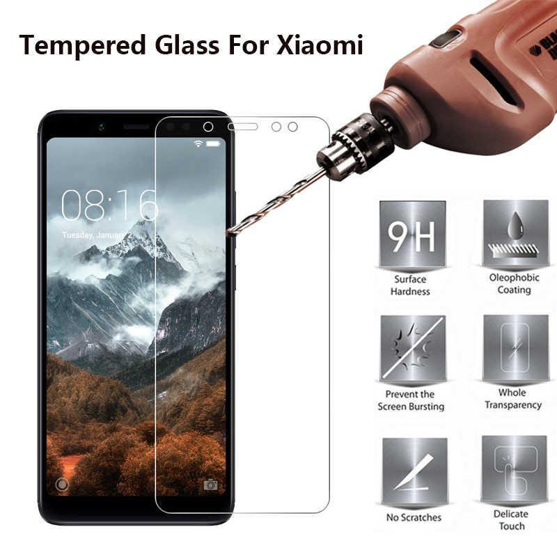 Kaca Pelindung Film untuk Xiaomi Mi 10 CC9 9 Catatan 10 Pro A3 Lite Tempered Glass Pelindung Layar untuk xiomi Redmi Note 8 Pro