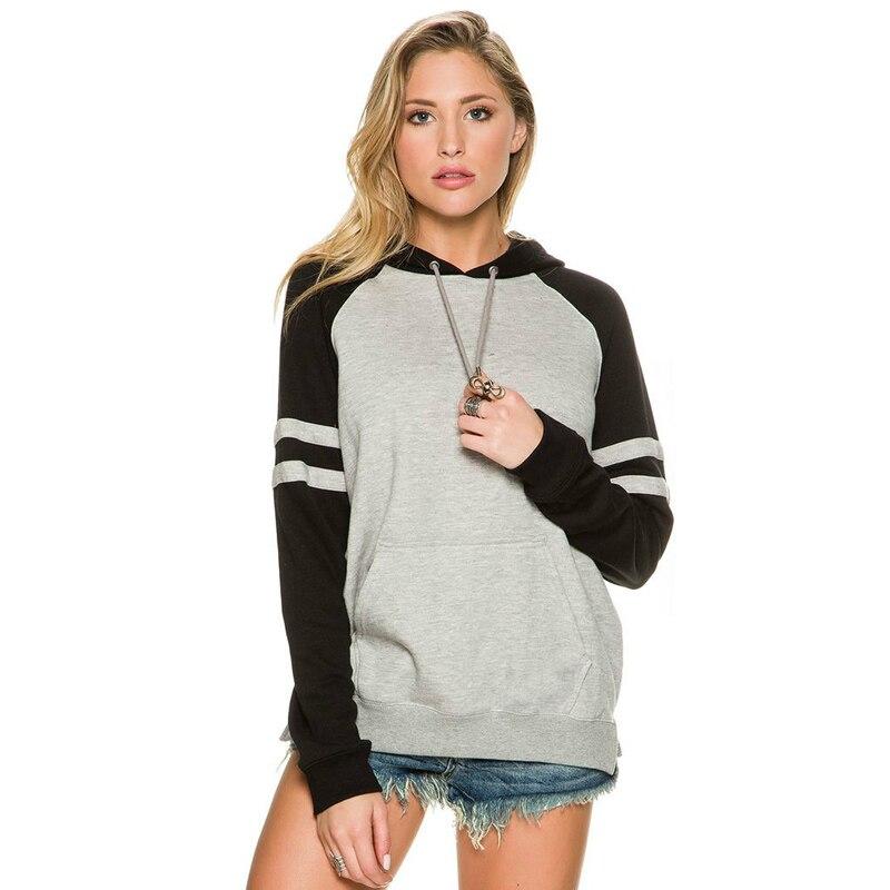 Nice Pop Tide Fashion Women Long Sleeve Coat Pullover Hoodie Sweatshirt Hooded Casual Hooded Fresh Girl Hoddies
