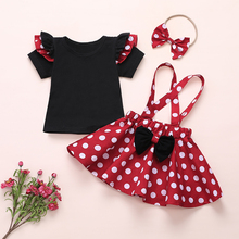 girls rose red unicorn flowers tutu dress with headband hair hoop set for kids birthday theme party dress halloween party dress 2020 Girls Minnie Tutu Dress Baby Tutus Minnie Dress with Dots Bow Headband Set Kids Party Cosplay Dresses Birthday 1- 6Y