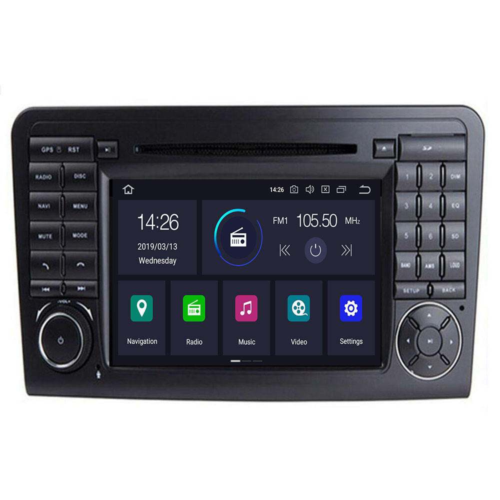 2Din Car DVD Player For <font><b>Mercedes</b></font> Benz <font><b>ML</b></font> Class <font><b>W164</b></font> GL350 X164 ML320 GPS Navigation <font><b>Radio</b></font> Stereo BT DAB+ DTV SWC CAM MAP TPMS image