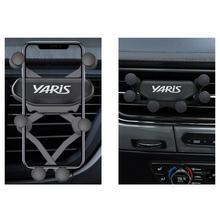 Wnętrze samochodu odpowietrznik zacisk mocujący nie magnetyczny uchwyt do telefonu do akcesoriów Toyota yaris Car styling tanie tanio CN (pochodzenie) Plastic Uchwyty hamulca ręcznego 2000-2019 for yaris