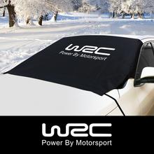 Samochód WRC zimowe szyby śnieg blok obejmuje dla SsangYong Vauxhall Nissan Qashqai Opel Peugeot Renault Seat akcesoria samochodowe tanie tanio CN (pochodzenie) Polyester Fabric CAXD200134 Car Accessories Snow Block Windshield Cover Silver (Sun Shade) and Black (Winter Cover)